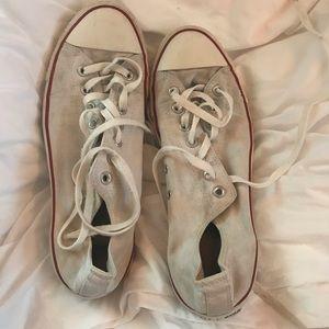 White Converse Allstars